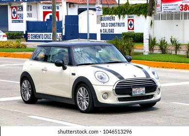 Acapulco, Mexico - May 28, 2017: Motor car Mini Cooper in the city street.