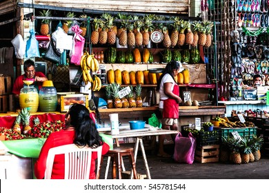 ACAPULCO, MEXICO NOVEMBER 19, 2016 - sellers on the market of Acapulco, Mexico