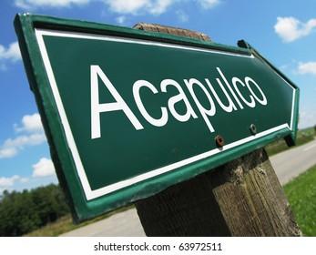 Acapulco road sign