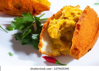 Acaraje traditional Brazilian street food of Bahia.