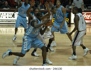 ACC freshman o the year Marvin Williams, a North Carolina men's basketball, makes a move during a recent game.
