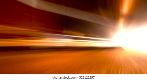 acceleration speed motion on night road