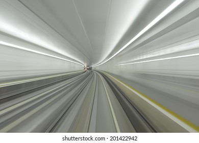 acceleration speed motion in tunnel