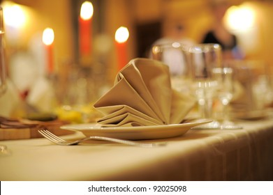 accent of decorative napkin