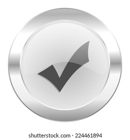 accept chrome web icon isolated