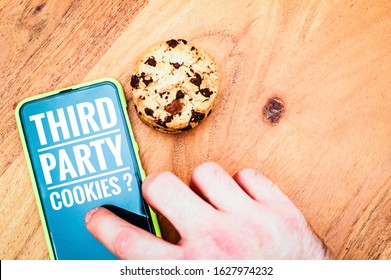 Accept cookies with a tablet to illustrate cookie banners for websites with cookies and Third Party Cookies