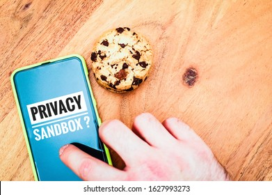 Accept cookies with a tablet to illustrate cookie banners for websites with cookies and privacy sandbox
