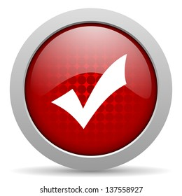 accept red circle web glossy icon