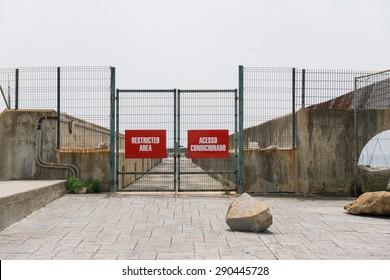Access denied. Cascais, Portugal - May 13, 2015