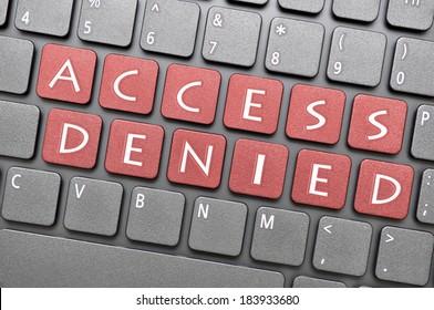 Access denied key on keyboard