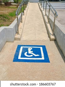 accessible disabled sign on pathway