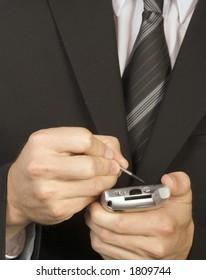 Accessing information online via a blackberry or palm pilot