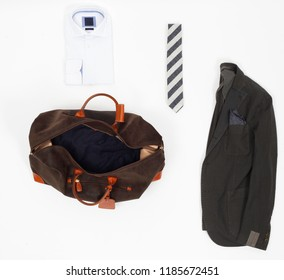 Accessoires for man isolated from above