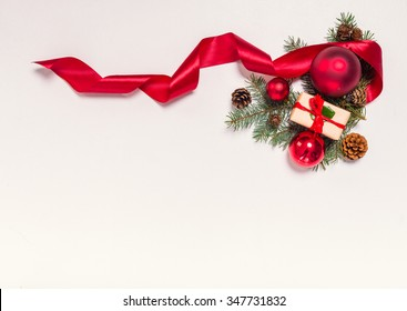 Accessories for celebrating Christmas isolated on white background