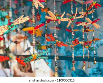 accessories of children's decoration in hippie market of Ibiza, Spain