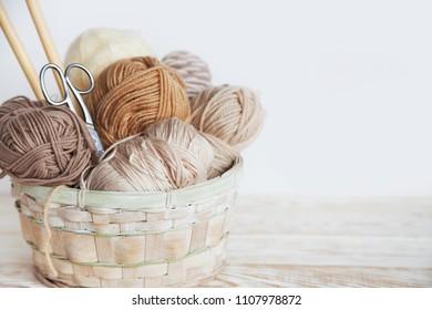 Accessories for needlework. Hobby knitting. Women's business.
