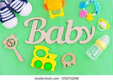 Accessories for newborns. Selective focusbaby