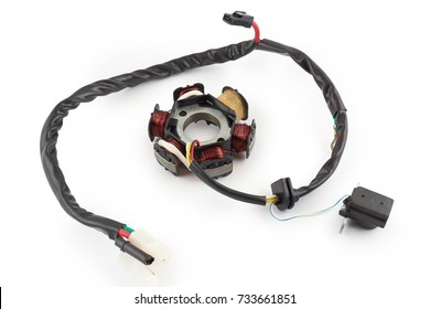 accessories on white background