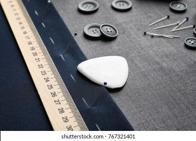 Accessories for tailoring on fabric