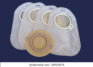 Accessory bag and disk for colostomy