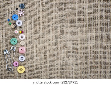 Accessory of the tailor - sewing background