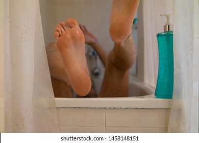 accident in bathtub with soap