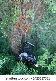 Accident with a golf car in a golf course