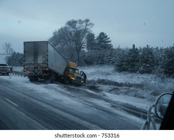 Accident On Winter Day
