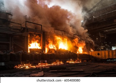 Accident at a steel mill