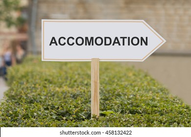 accomodation signpost