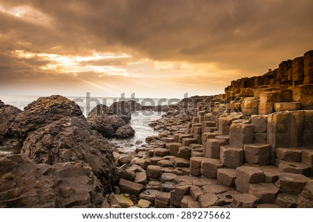 According to legend, the interlocking basalt columns are the remains of a causeway built by legendary giant Finn MacCool