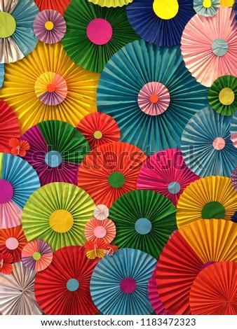 Accordion Fold Paper Colorfulaccordion Fold Paper Stock Photo Edit