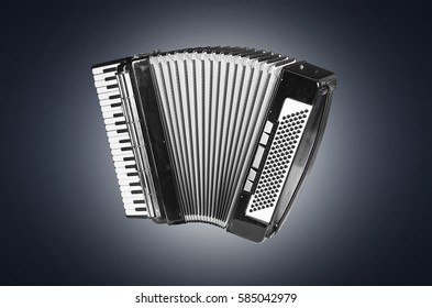 accordion on a blue background