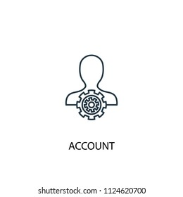 Account concept line icon. Simple element illustration. Account concept outline symbol design from Accounting set. Can be used for web and mobile UI/UX