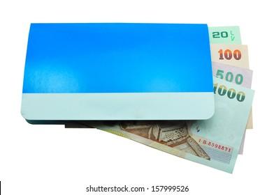 account passbook and Money