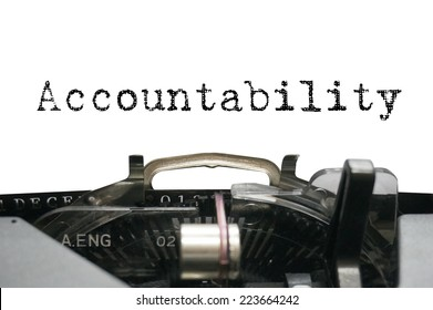 Accountability on typewriter