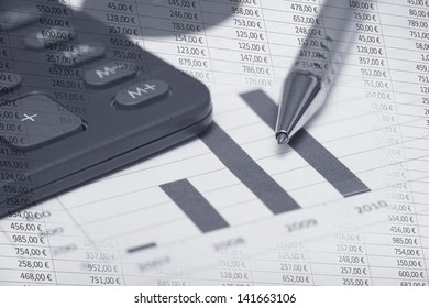 Accountancy graphics and calculator