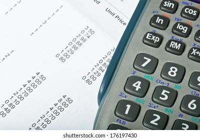Accountancy spreadsheet