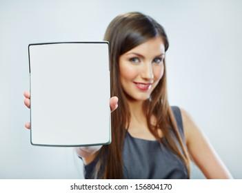 Accountant business woman portrait. Taxes count concept.