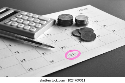 Accountant verify and review monthly saving and payment of Expense to Vendor or supplier for financial Business, Loan, Bookkeeping, Due date, Money, Accountancy Concept.