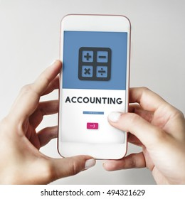 Accounting Calculating Finance Budget Concept