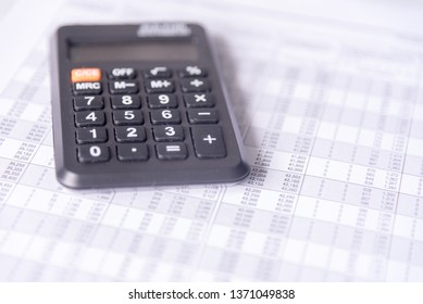 Accounting data with calculator.