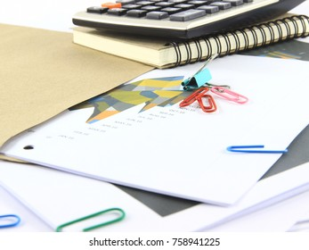 Accounting and finance concept.Graph statistical analysis.
