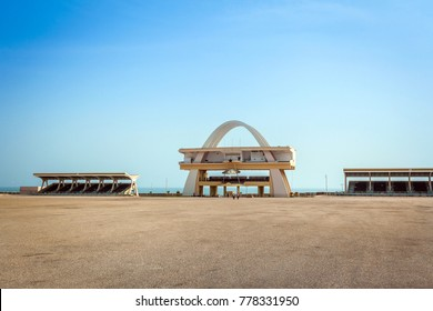 Accra, Ghana - January 23, 2014: Independence square in capital city of Ghana, West Africa