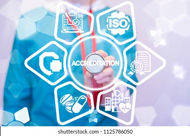 Accreditation Medicine Concept. Accredited Healthcare.