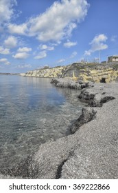 Accumulation of Mediterranean tapeweed on the coast of Sicily
