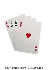 Ace cards. poker. Isolated on white background