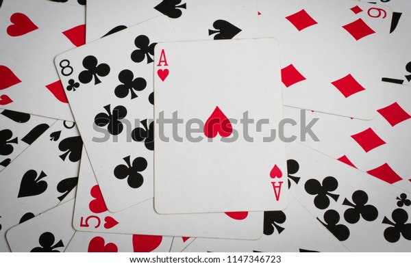 ace of hearts abstract, playing cards