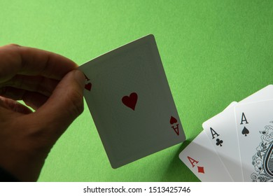 Ace of hearts playing card.