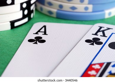 Ace king of clubs